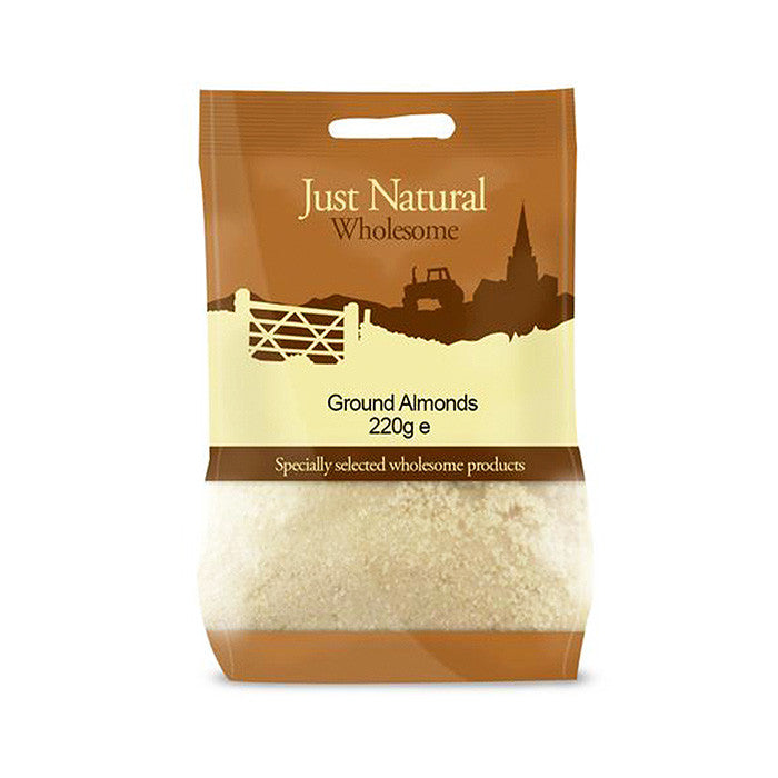 ground almonds by just natural and sold at shorebeing natural foods