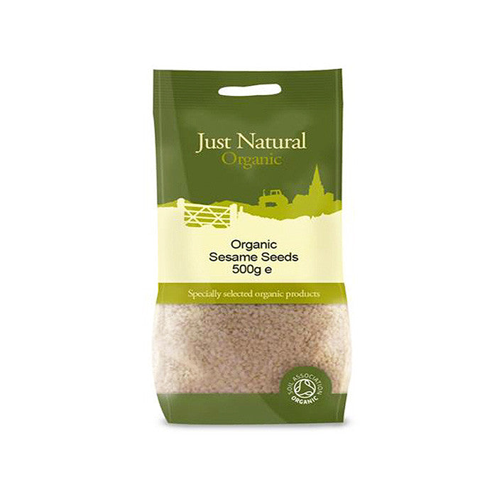organic sesame seeds by just natural and sold at shorebeing natural foods