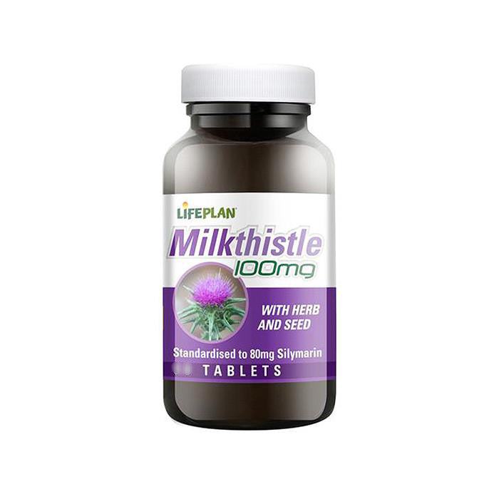 milk thistle with herb and seed tablets by life plan