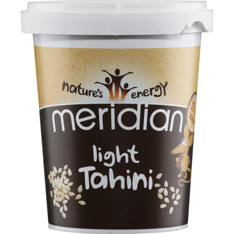 light tahini in a tub made by meridian