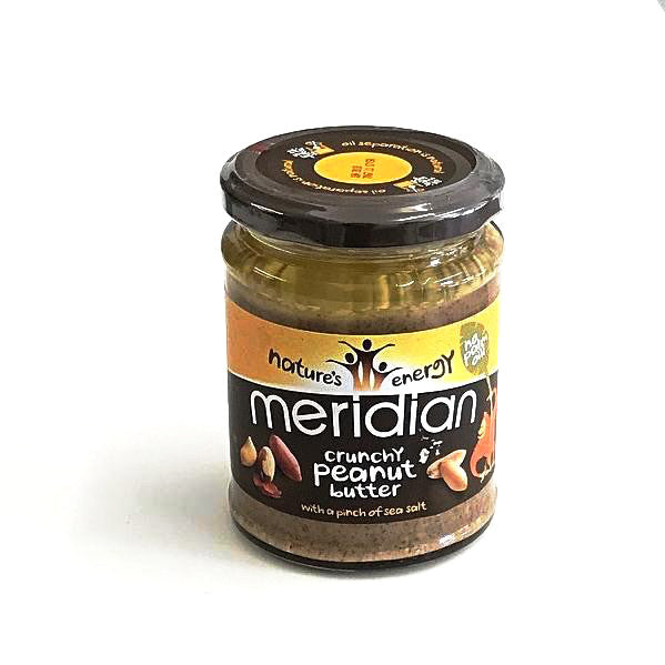 crunchy peanut butter with a pinch of sea salt by meridian foods