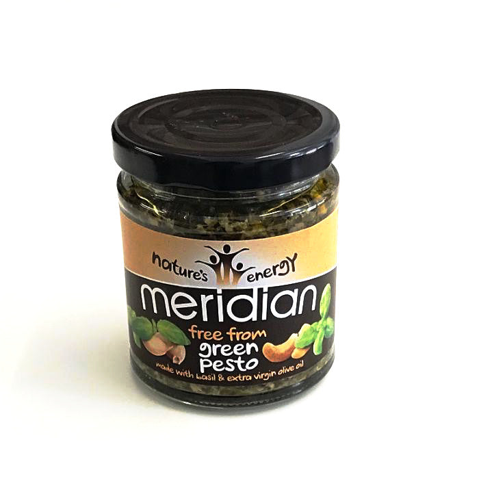 green pesto with basil and extra virgin olive oil by meridian foods