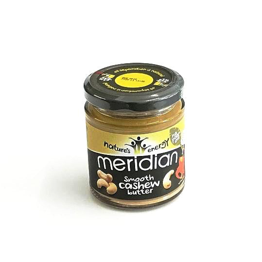 smooth cashew butter by meridian with no palm oil or sugar