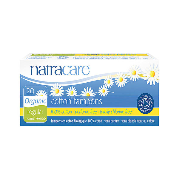 natracare organic regular cotton tampons