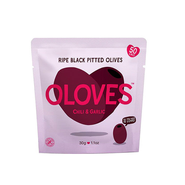 oloves chilli and garlic black pitted olives