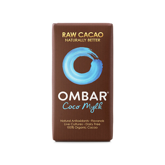 an ombar coco mylk raw cacao bar
