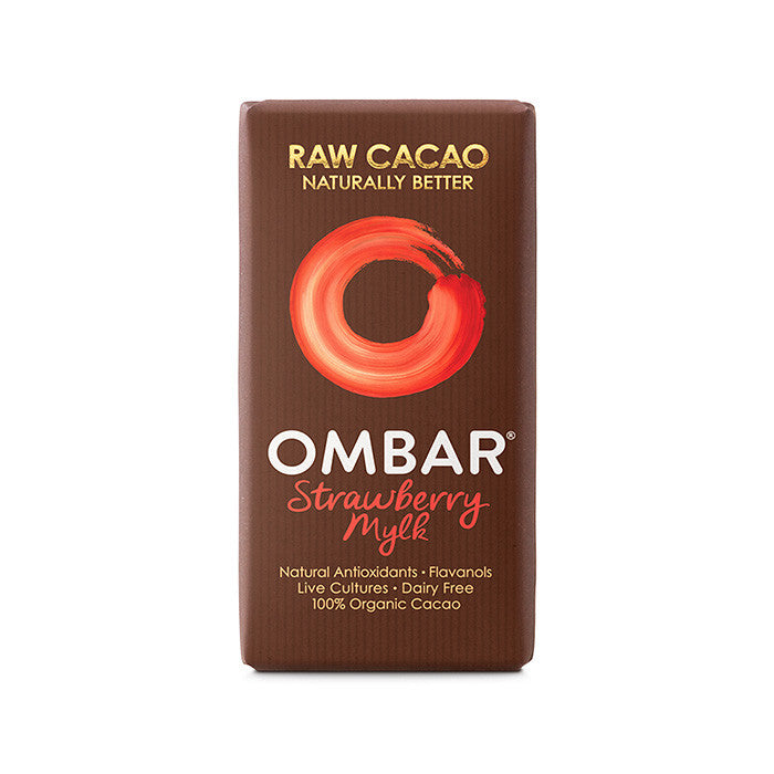 ombar strawberry raw cacao bar