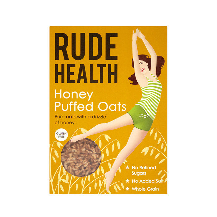 rude health honey puffed oats sold at shorebeing natural foods in worthing