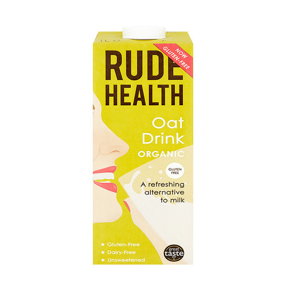 rude health organic oat drink which is gluten and dairy free