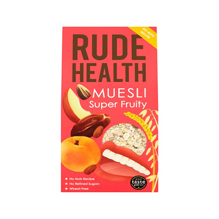rude health super fruity muesli breakfast cereal