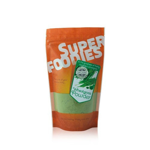 wheatgrass powder by super foodies and available in shorebeing natural foods