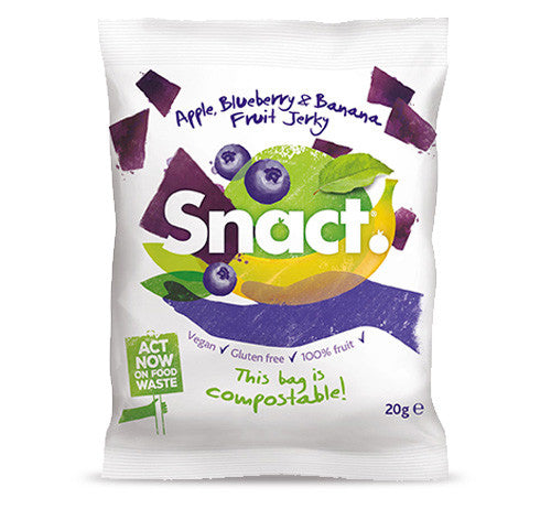 snact apple blueberry and banana fruit jerky 20gram pack