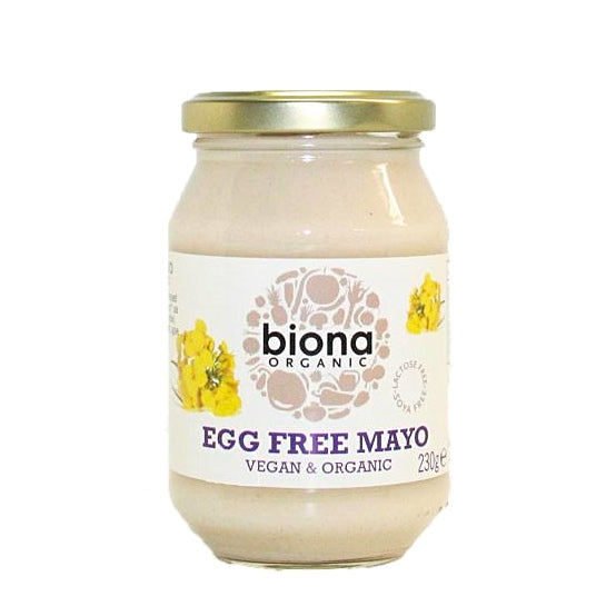biona egg free mayonnaise which is vegan and organic