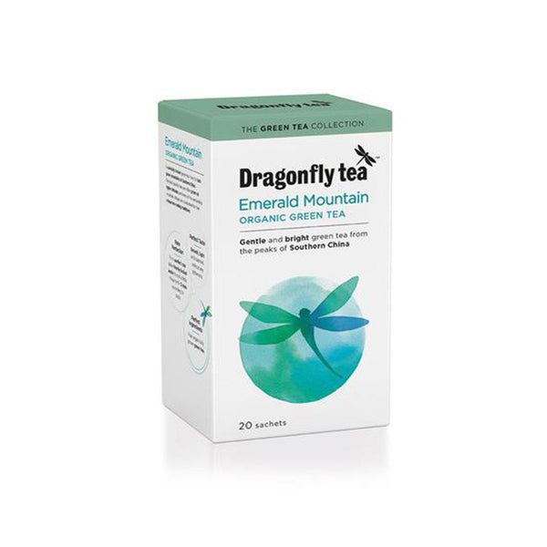 organic green tea with emerald mountain design dragonfly tea