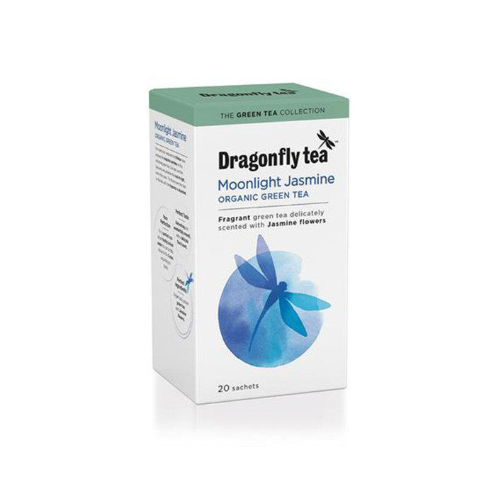 moonlight jasmine green tea which is organic and made by dragonfly tea