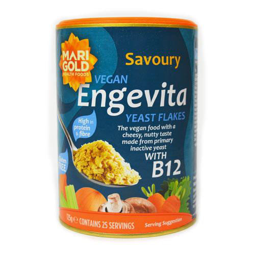 yeast flakes with vitamin B12 by marigold and sold at shorebeing natural foods in worthing