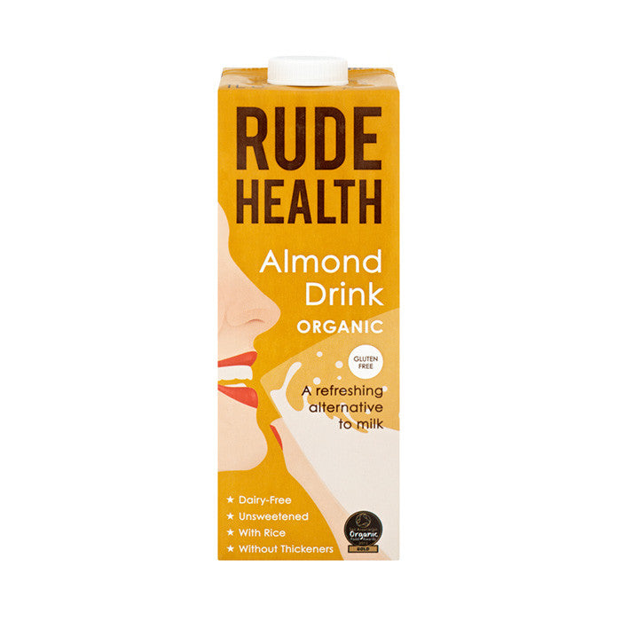 rude health almond flavoured milk drink