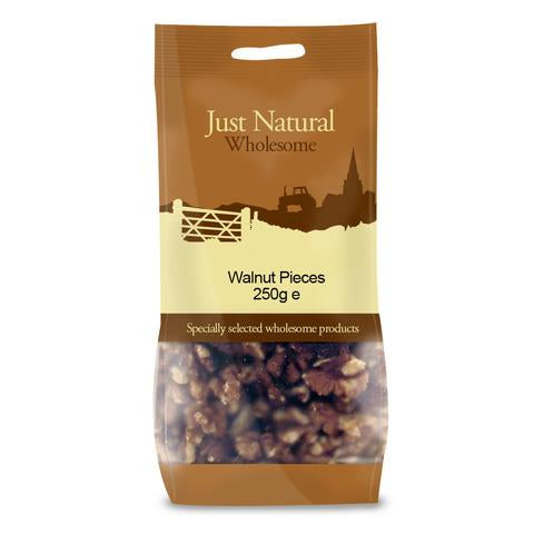 a bag of walnut pieces by just natural