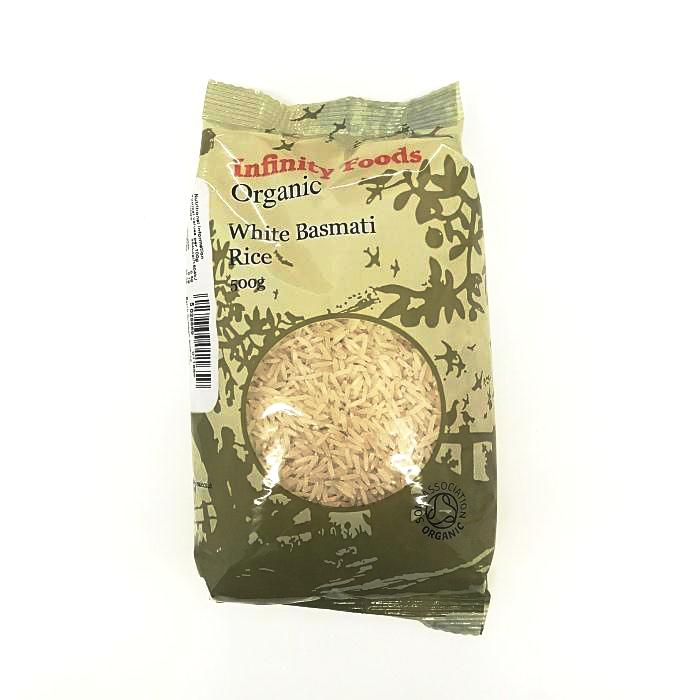 white basmati rice by infinity foods