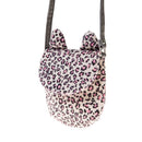 Furry Leopard Print Cat Bag