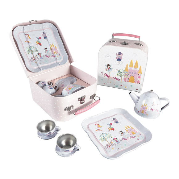 Fairy and Unicorn Tin Tea Set