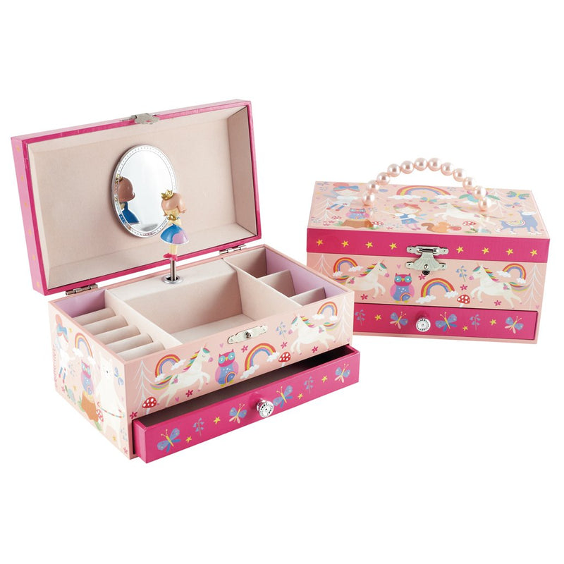 Rainbow Woodland Musical Jewellery Box
