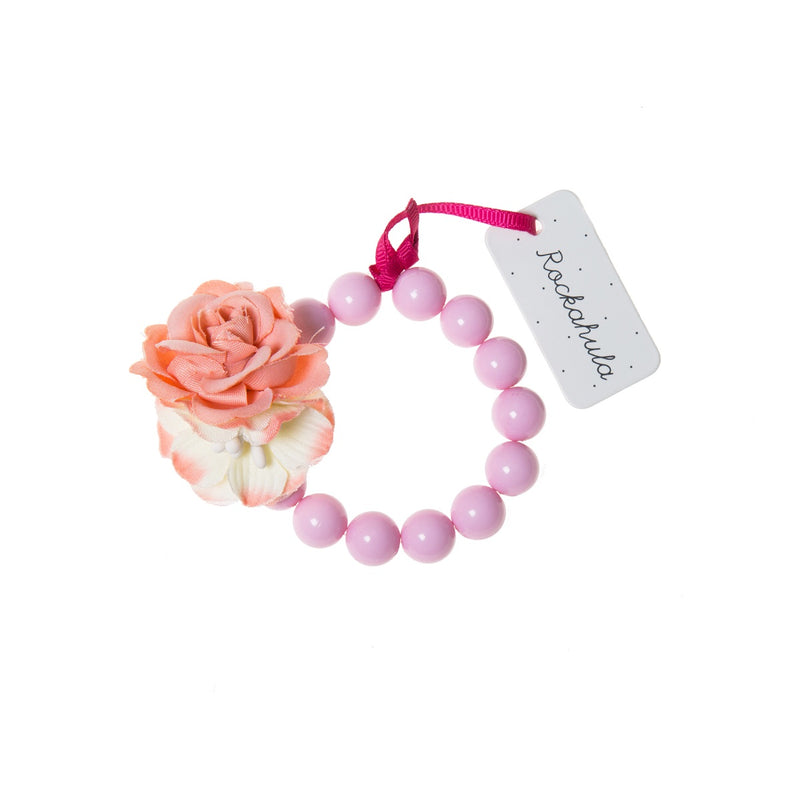 Flower Bracelet in Pink and Coral