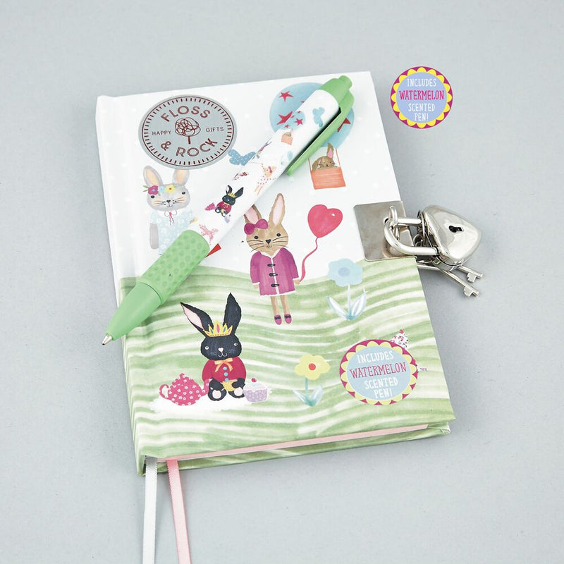 Bunny Lockable Diary and Scented Pen