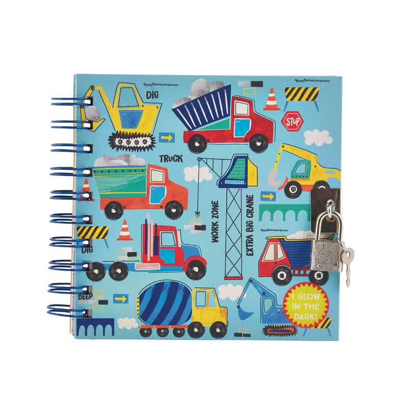 Construction Glow in the Dark Secret Notebook