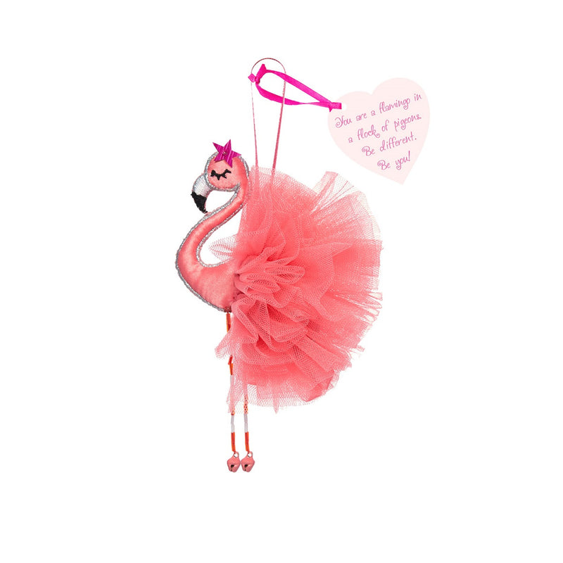 'You are a flamingo in a flock of pigeons' - Hanging Decoration