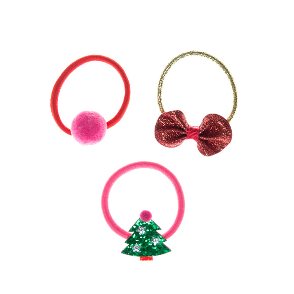 Jolly Christmas Tree Hair Band Ponies
