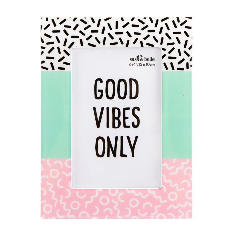 'Good Vibes Only' Photo Frame
