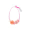 Flower Necklace in Pink and Coral