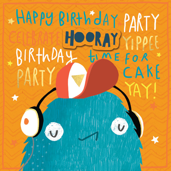 Monster Dude Birthday Card