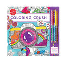 Coloring Crush Colouring Book with Pencils