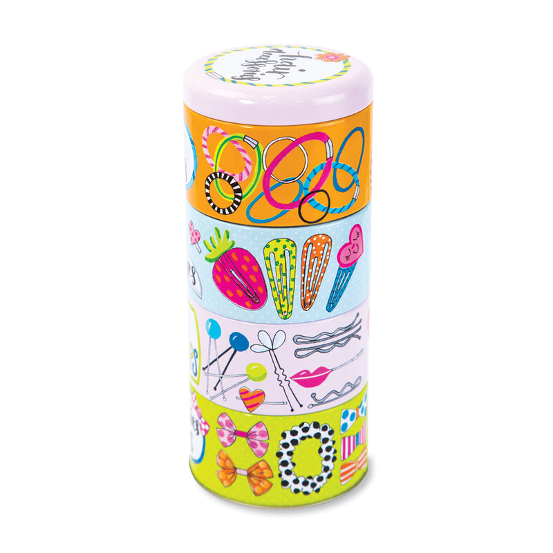 Stacking Tins - Hair Accessories