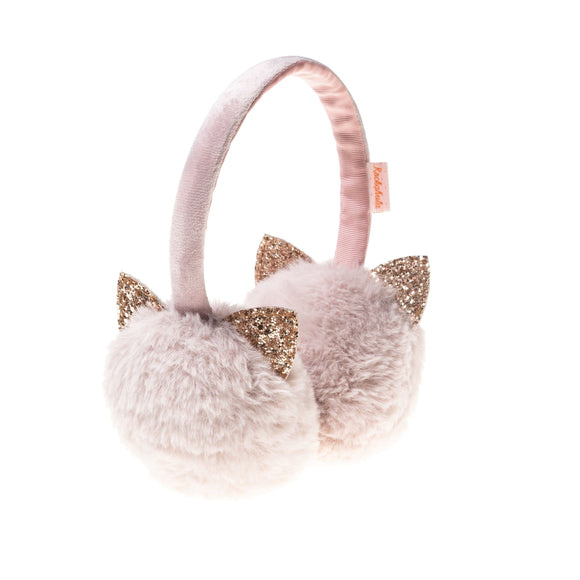Glitter Cat Earmuffs in Soft Pink