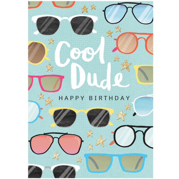 Cool Dude Birthday Card
