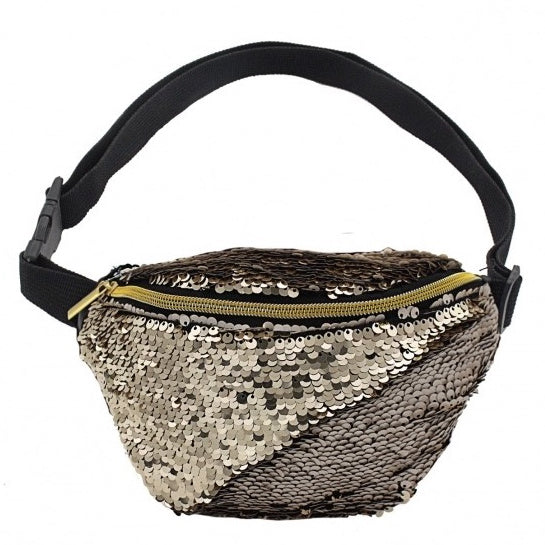 Gold Sequin Bum Bag