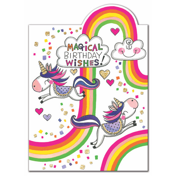 Magical Unicorn Birthday Wishes Birthday Card