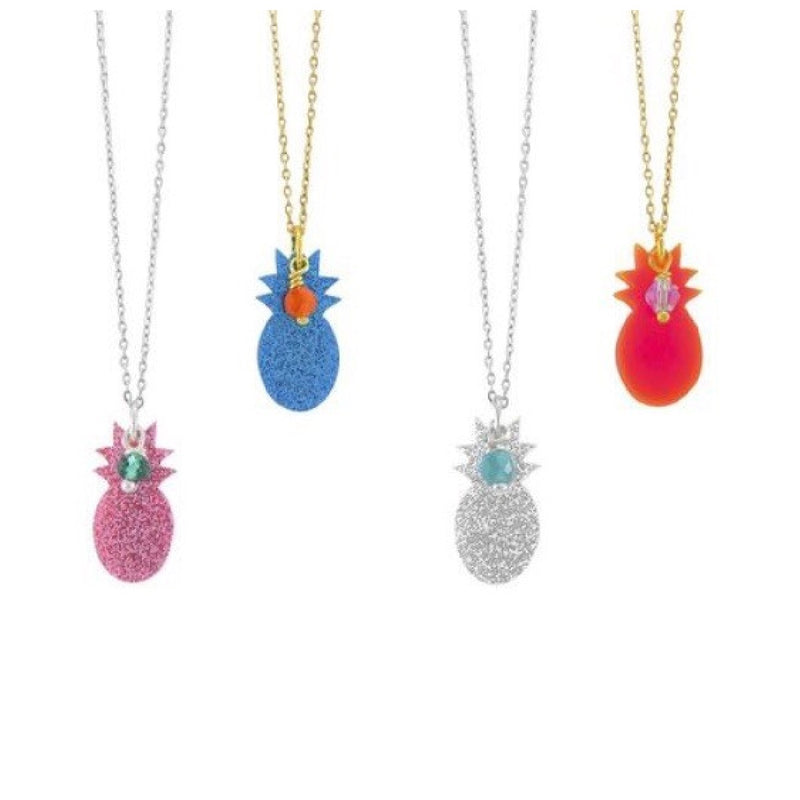 Blue Pineapple Necklace