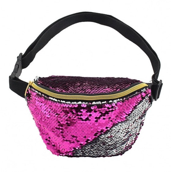Pink & Silver Sequin Bum Bag