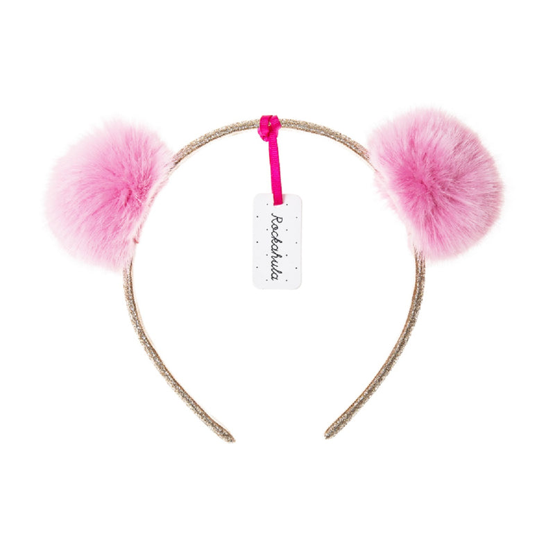 Furry Pom Pom Head Band