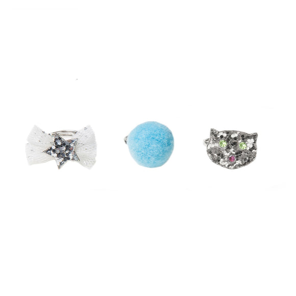 Cat Glitter Ring Set