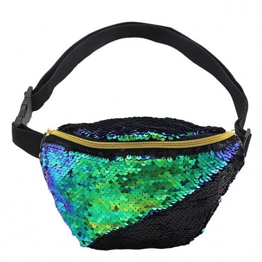 Green & Purple Mermaid Sequin Bum Bag