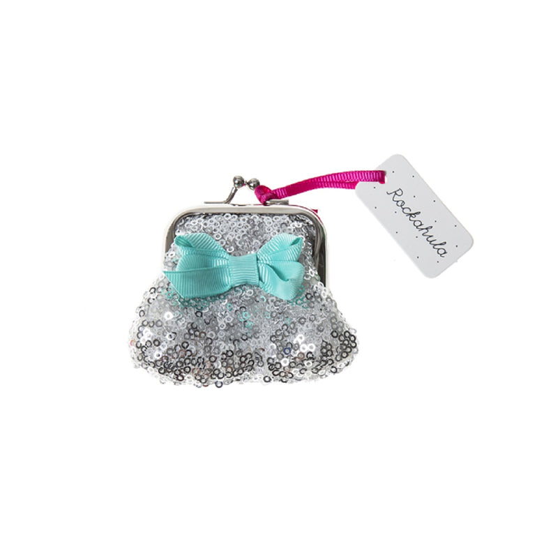 Mini Sequin Purse in Silver