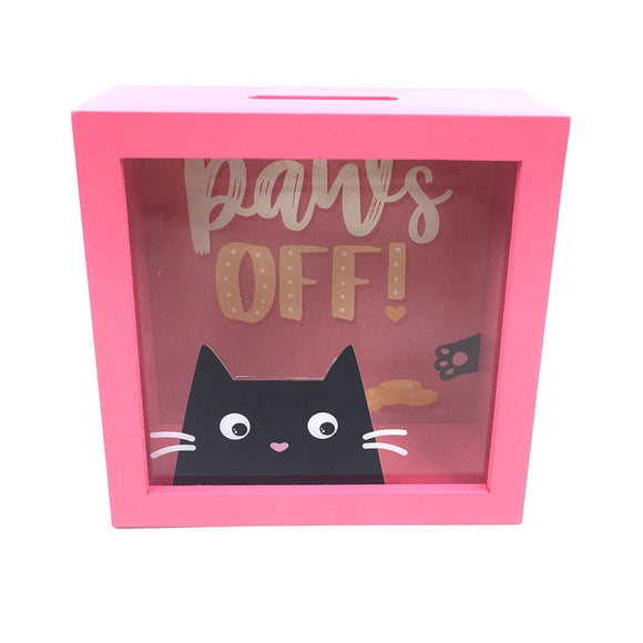 Paws Off! Cat Money Box