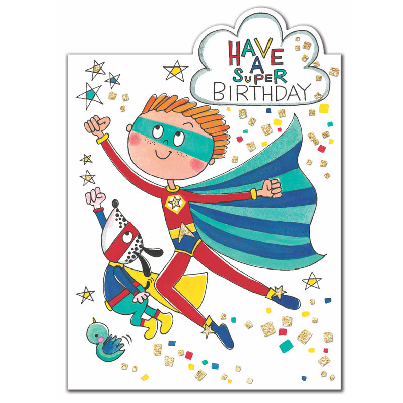 Superhero Birthday Card