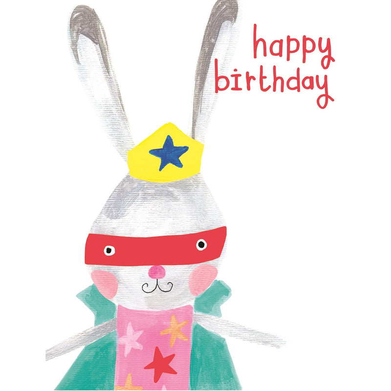 Super Bunny Birthday Card
