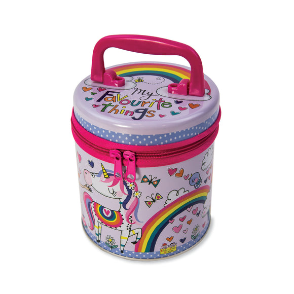 Magical Unicorn Zipped Tin